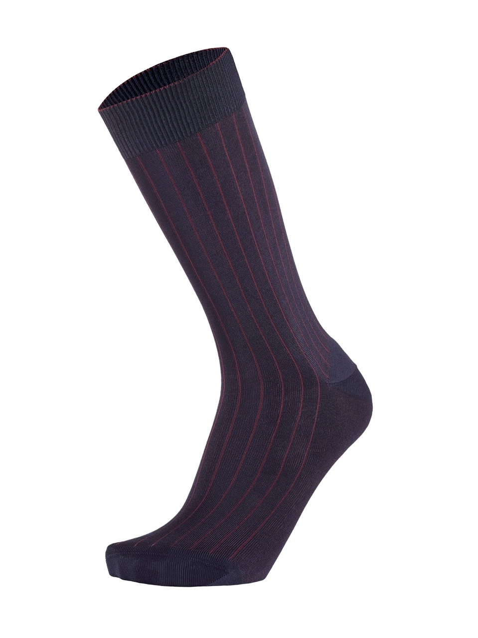 Picture of 2-COLOR RIBBED BLUE/BORDEAUX
