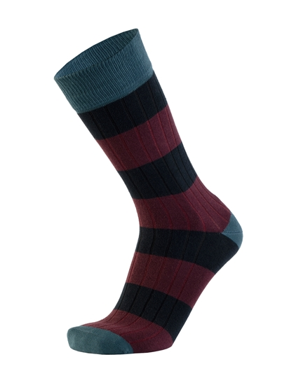 Picture of STRIPES CANALÉ BLUE/BURGUNDY