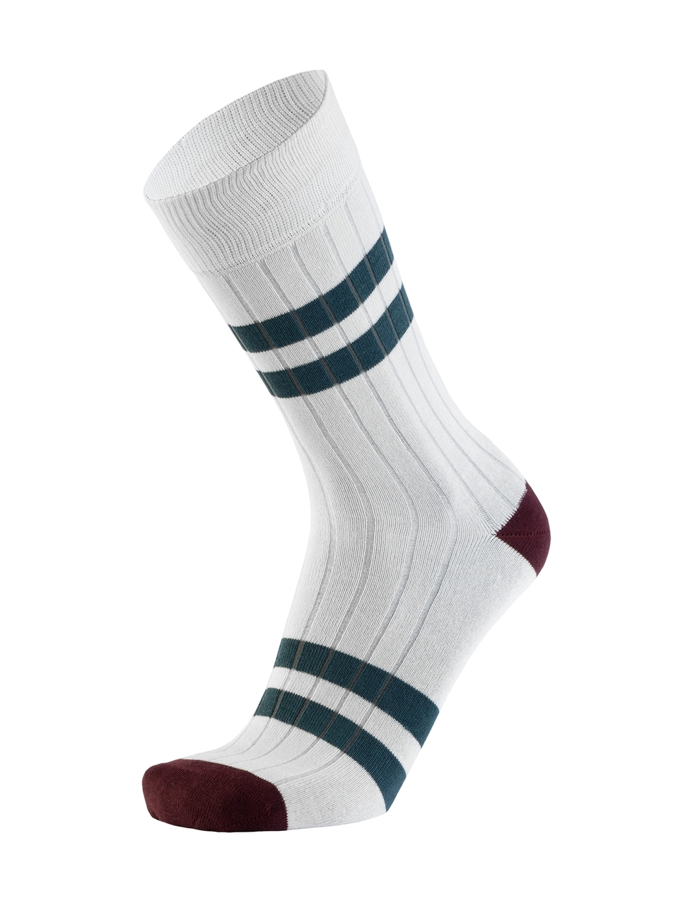 Picture of DOUBLE STRIPES CANALÉ WHITE/PETROL