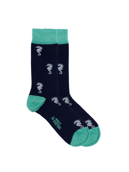 Picture of SEA HORSES BLUE